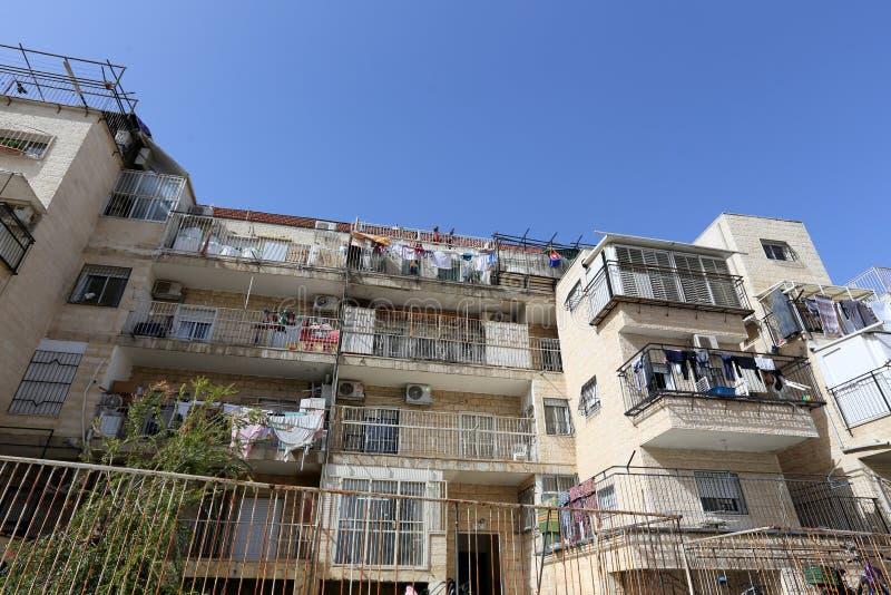 Balkony i okno w mieście Jerozolima obrazy stock