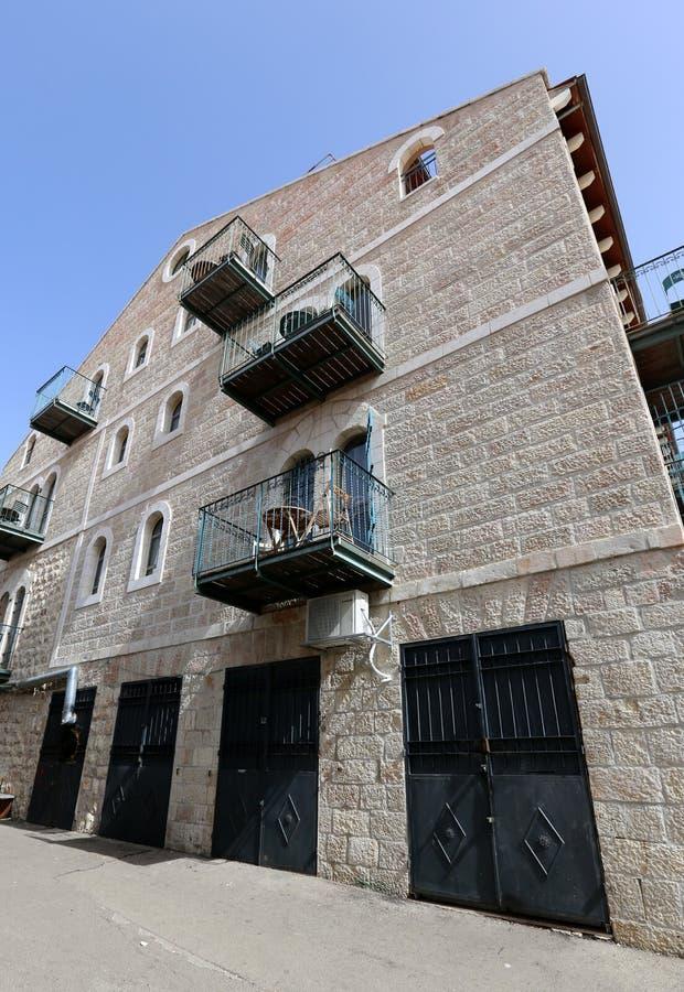 Balkony i okno w mieście Jerozolima zdjęcia royalty free