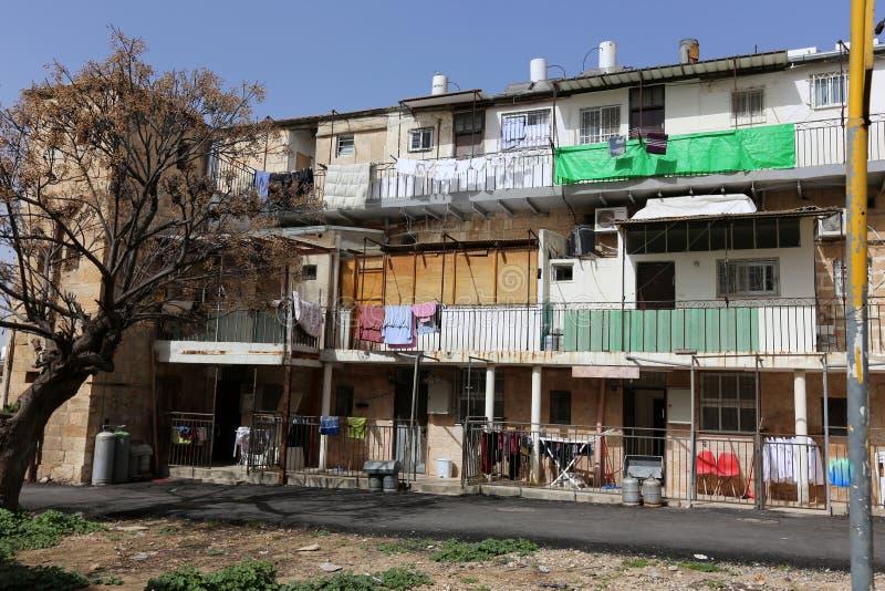 Balkony i okno w mieście Jerozolima obraz stock