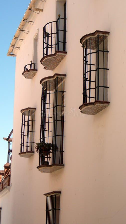 Balkony w menchiach zdjęcie stock
