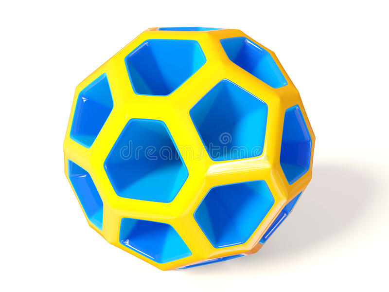 Ball. Blue 3d ball on white background isolated royalty free illustration