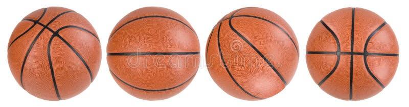 Isolated basketballs on white stock photos