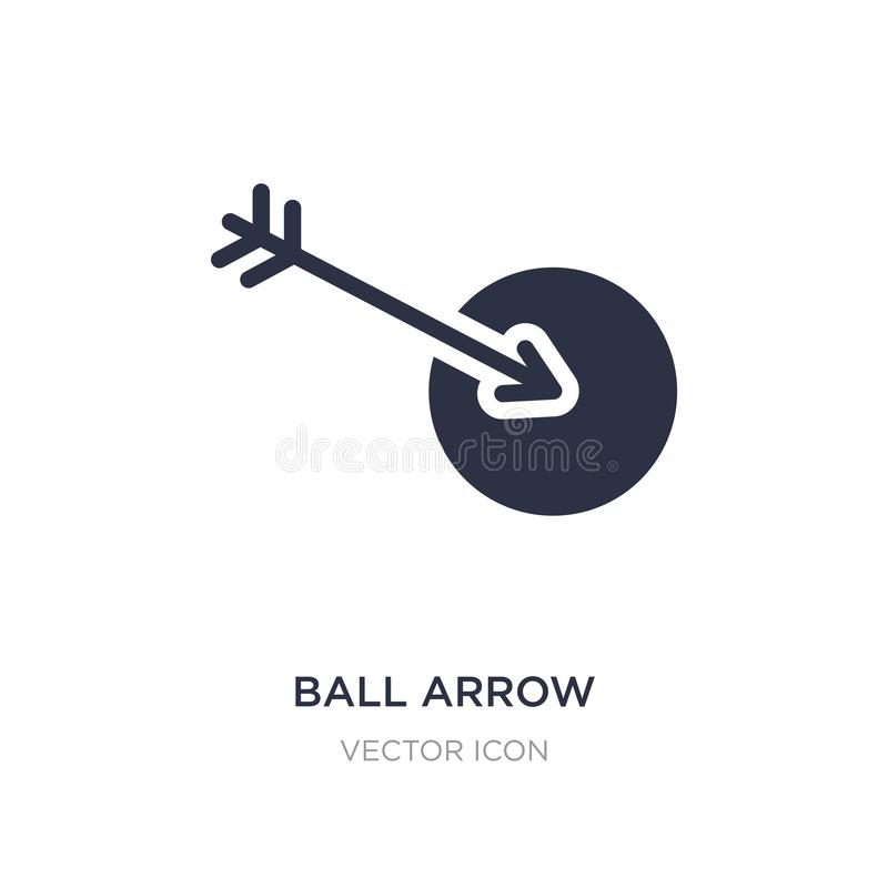 ball arrow icon on white background. Simple element illustration from Sports concept stock illustration