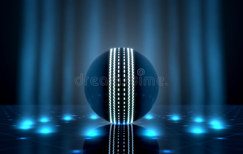 Ball auf Spotlit-Stadium vektor abbildung