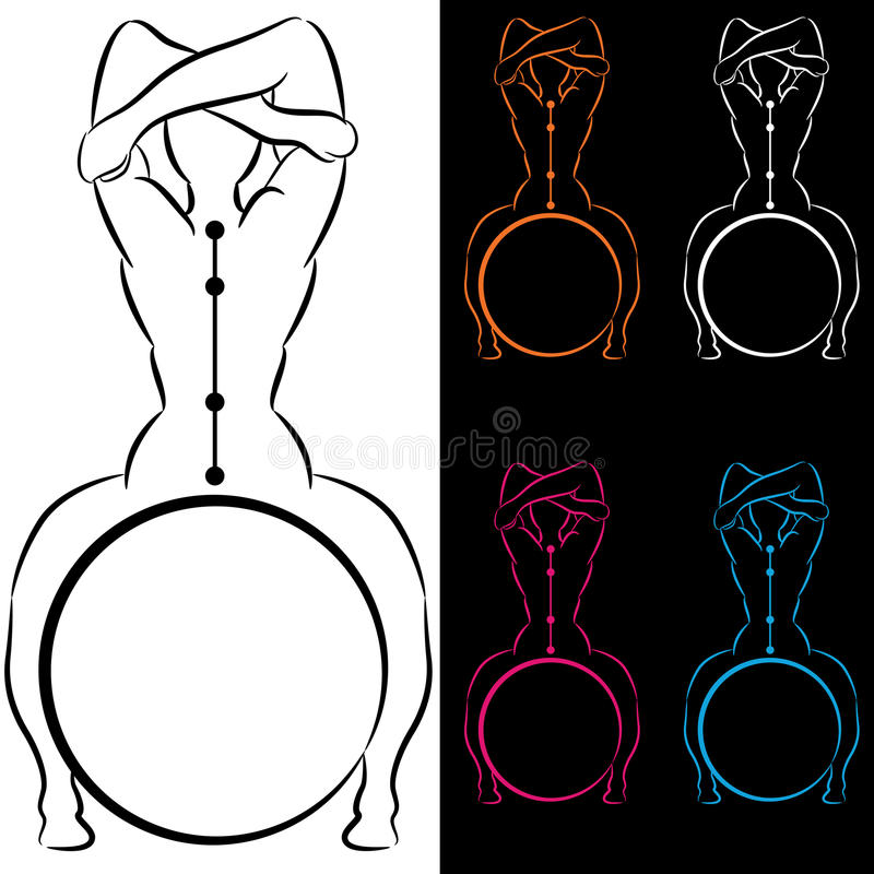Download Ball Balancing Spine Alignment Stock Vector - Image: 25630956