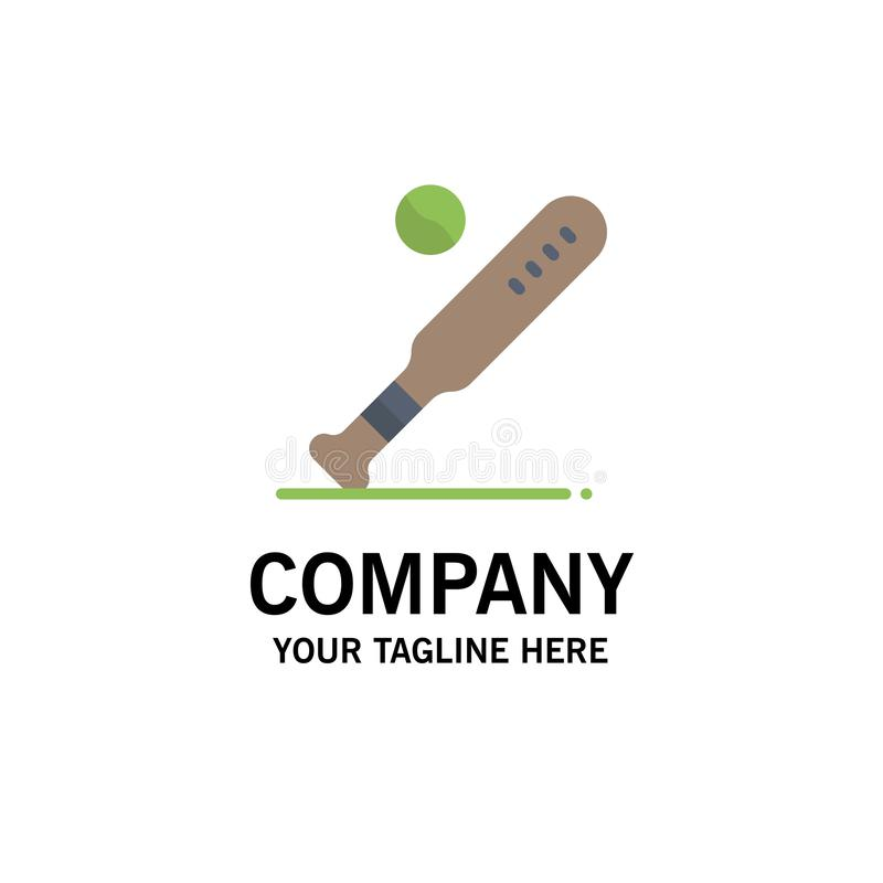 Ball, Baseball, Bat, Sports, Usa Business Logo Template. Flat Color stock illustration