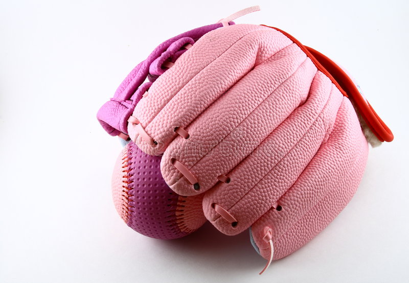 ball baseball glove royaltyfri bild