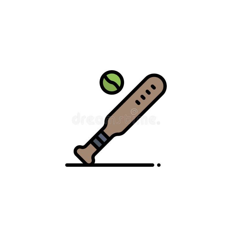 Ball, Baseball, Schläger, Sport, USA-Geschäft Logo Template flache Farbe stock abbildung