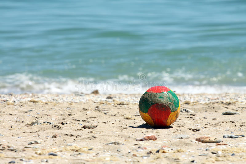 Download Ball On A Beach Stock Photography - Image: 25271372