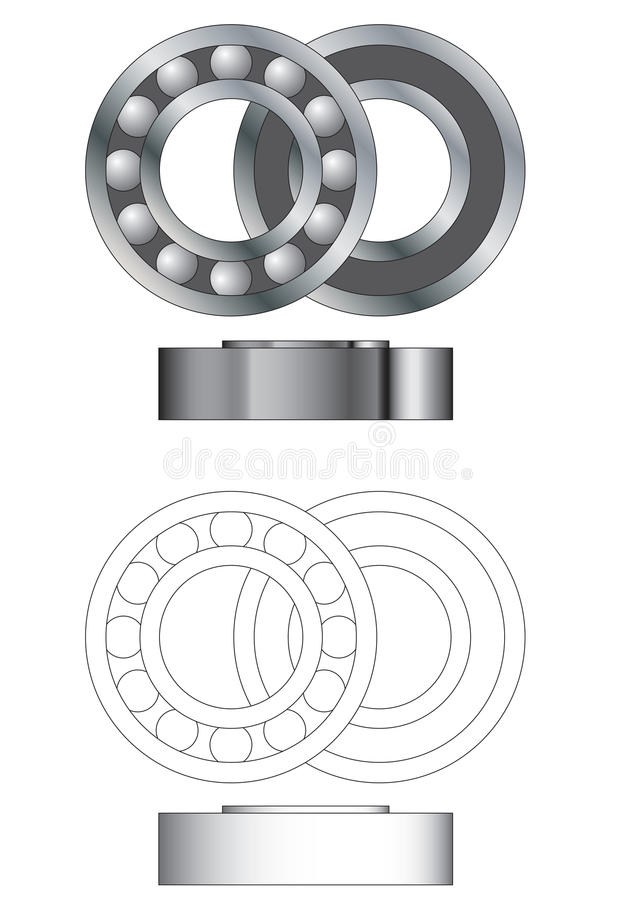 Ball Bearing Assembly Vector Stock Image