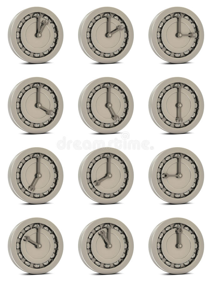 Ball bearing like a clock