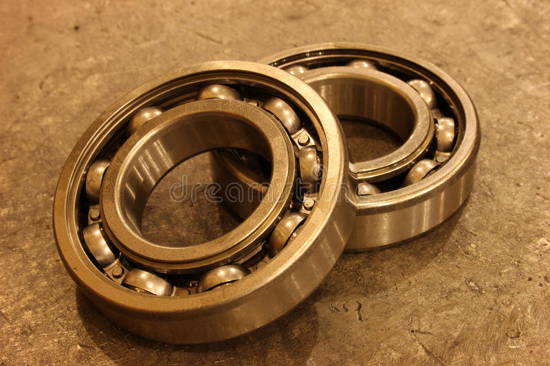 Ball bearing. On the metal mold royalty free stock image