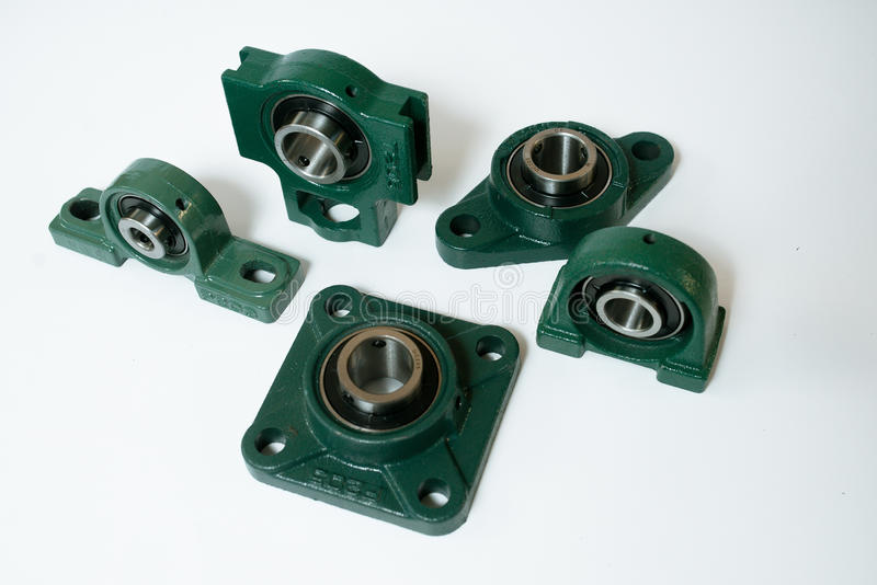 Ball bearing units different types on a white background royalty free stock images
