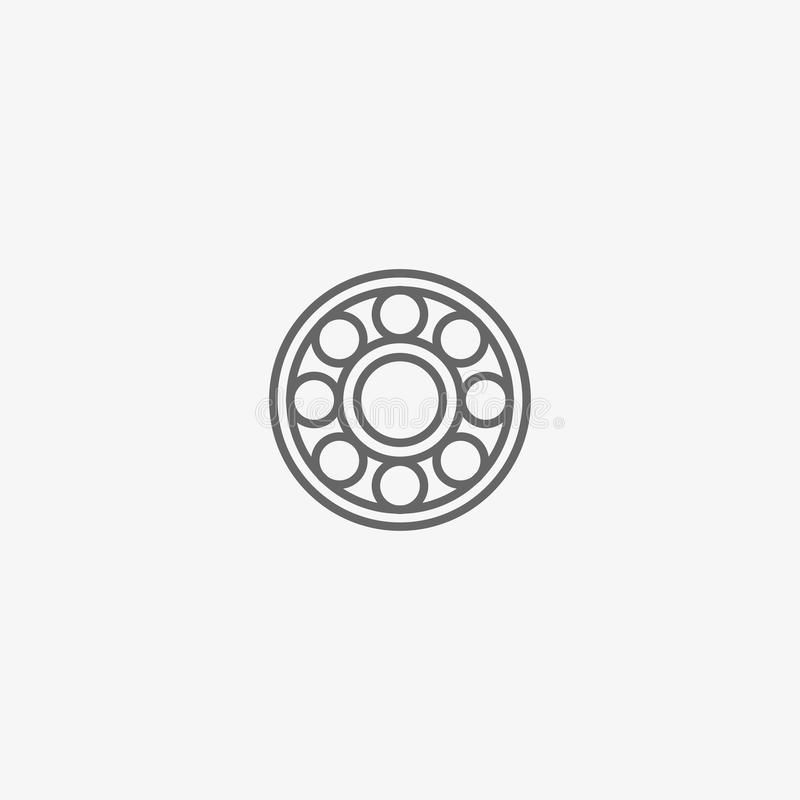 Ball bearing vector icon royalty free stock images