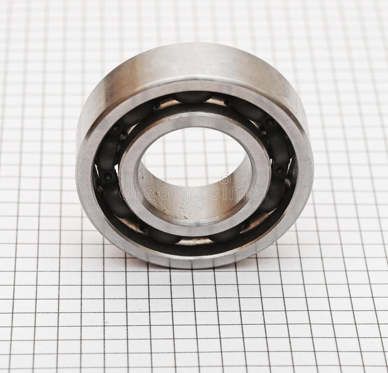 Ball bearings. On white background stock photography