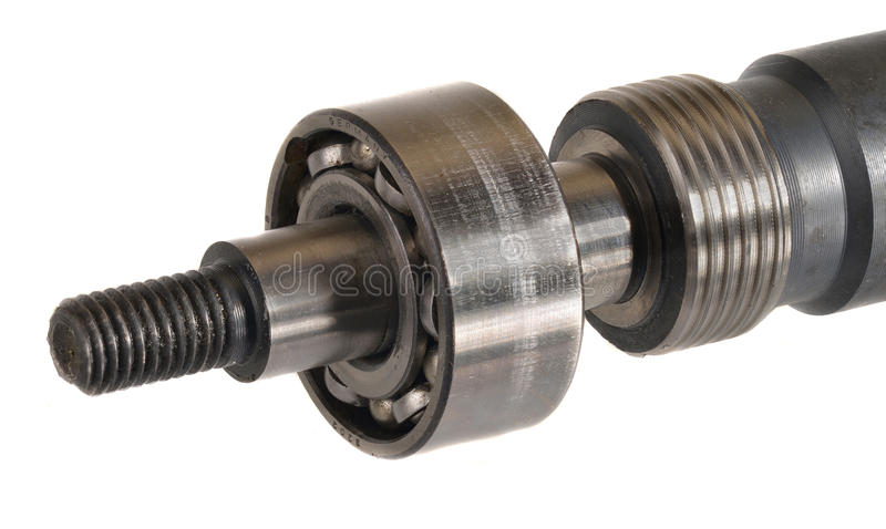 Ball bearings. On an axle royalty free stock photography