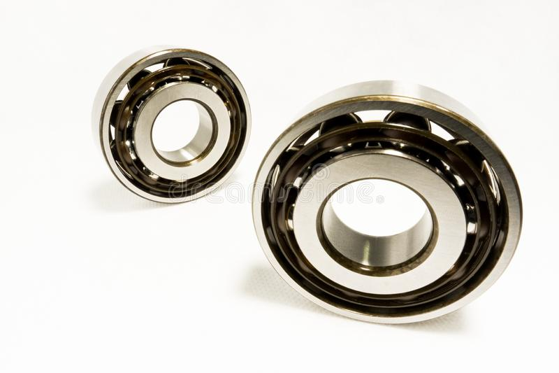 Ball Bearings. Isolated on white background royalty free stock photos