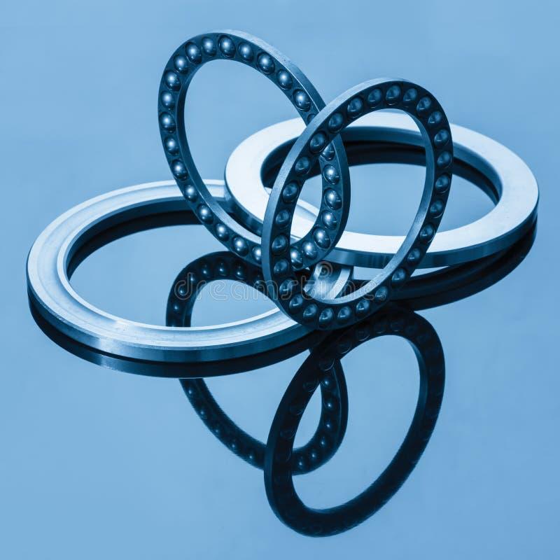 Ball bearings. Blue toning idea royalty free stock photo