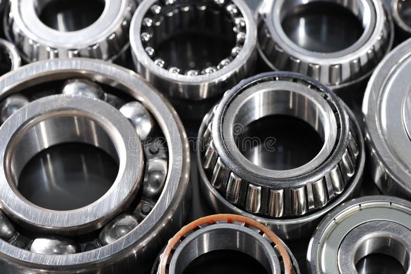 Ball-bearings. Closeup view of several ball-bearings stock image
