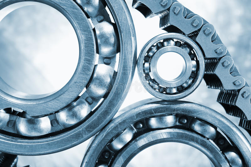 Download Ball-bearings, Gears In Close-ups Stock Image - Image: 28804961