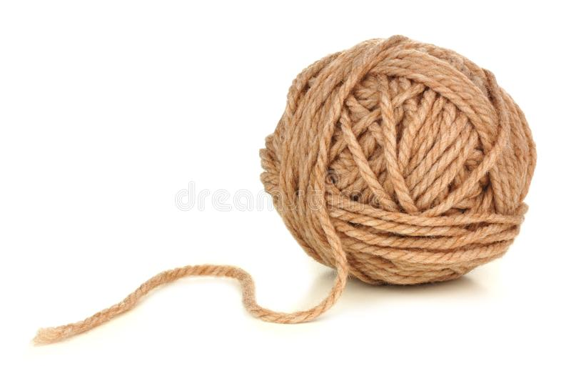 Ball of beige yarn royalty free stock photos
