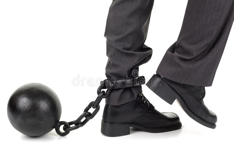 Ball and chain stock photos