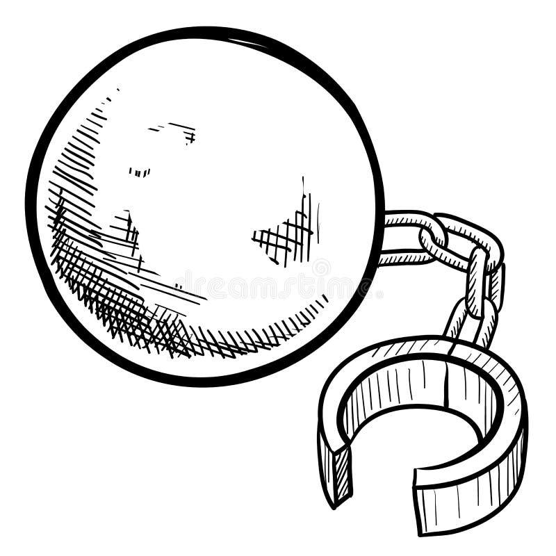 Ball and chain bondage