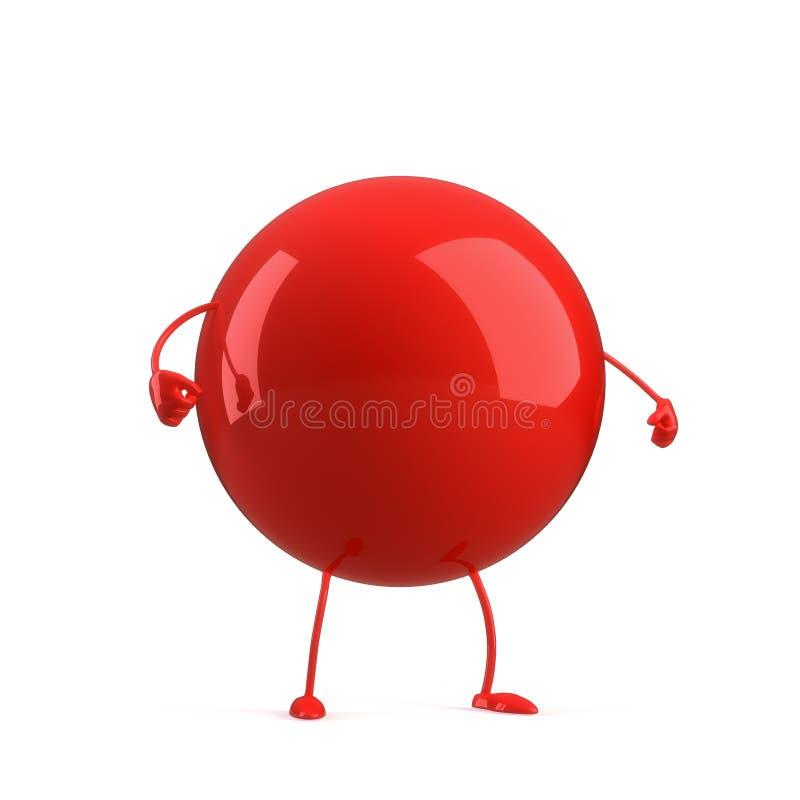 Download Ball character stock illustration. Image of image, mood - 16536851