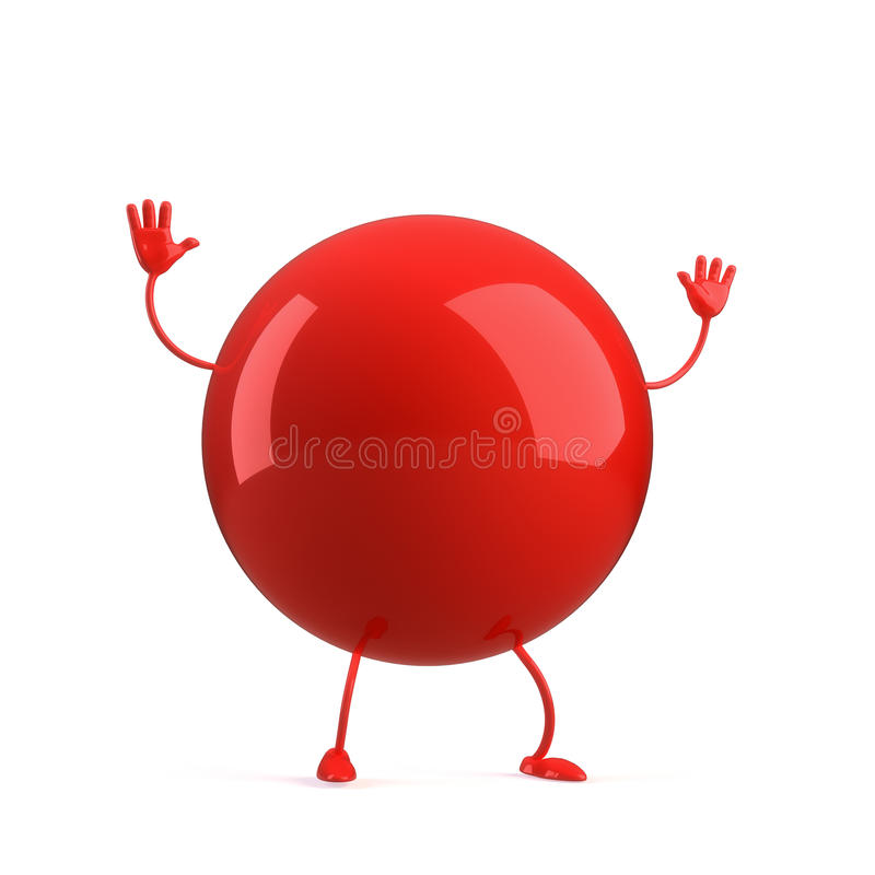 Ball Character Stock Images