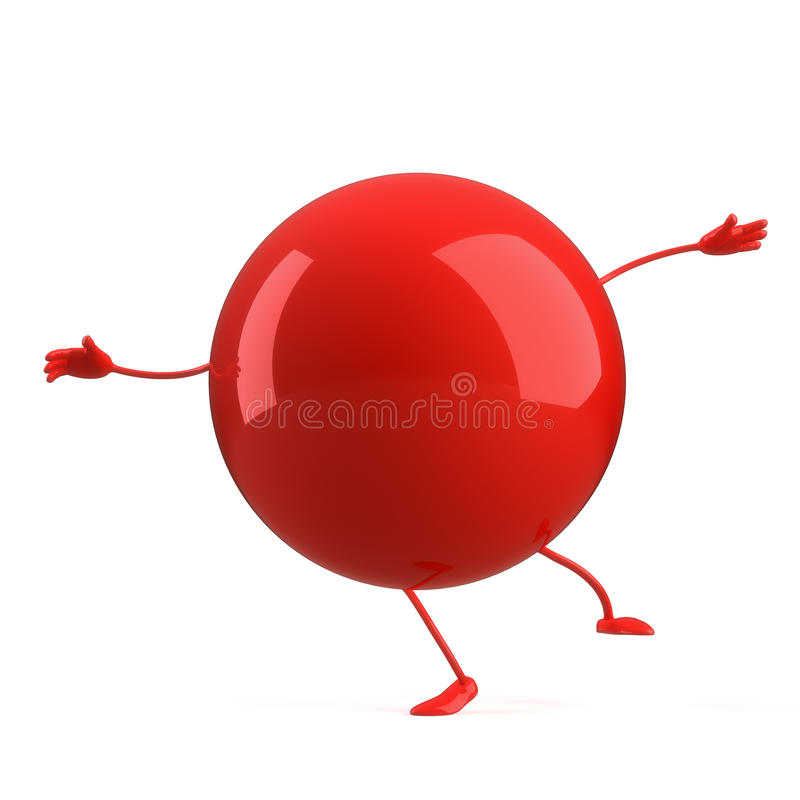 Download Ball character stock illustration. Image of graphic, hands - 16536856