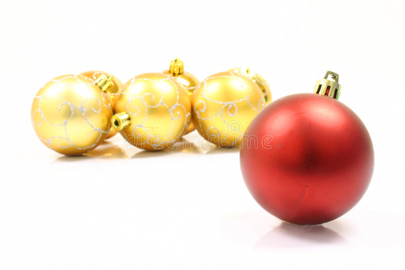 ball christmas ornaments στοκ εικόνα