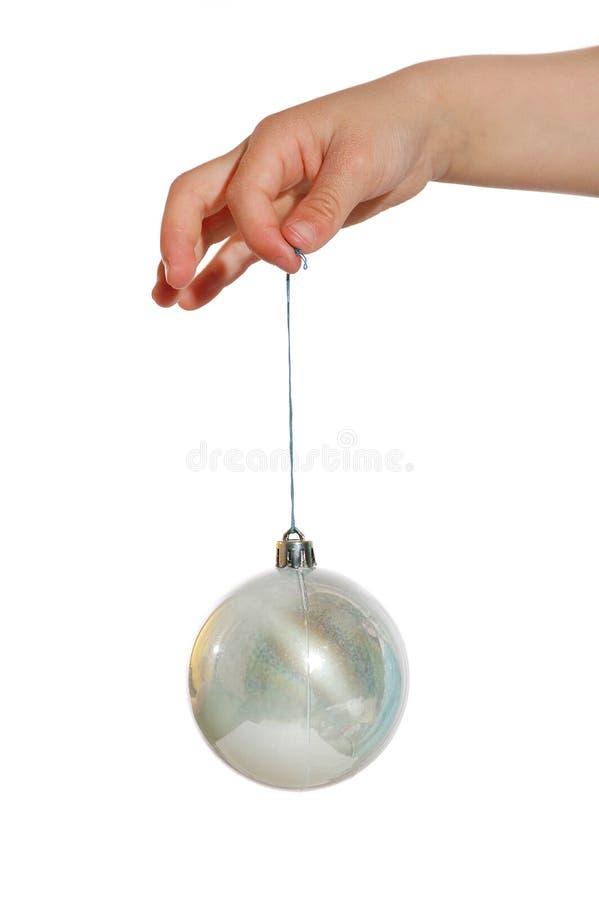 ball christmas silver στοκ φωτογραφία με δικαίωμα ελεύθερης χρήσης