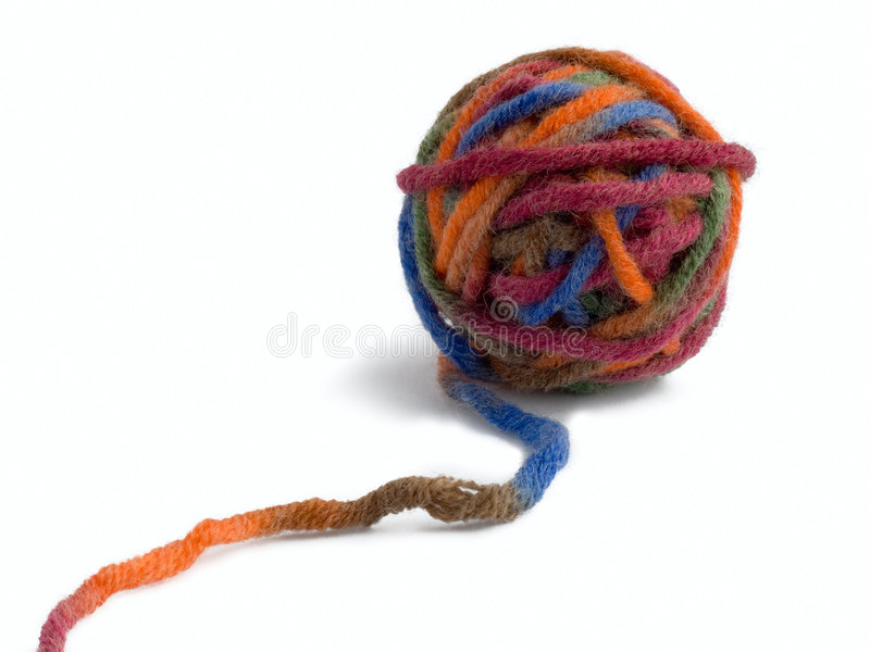 Download Ball Of A Color Thread For Knitting Stock Image - Image of feminine, circle: 4961381