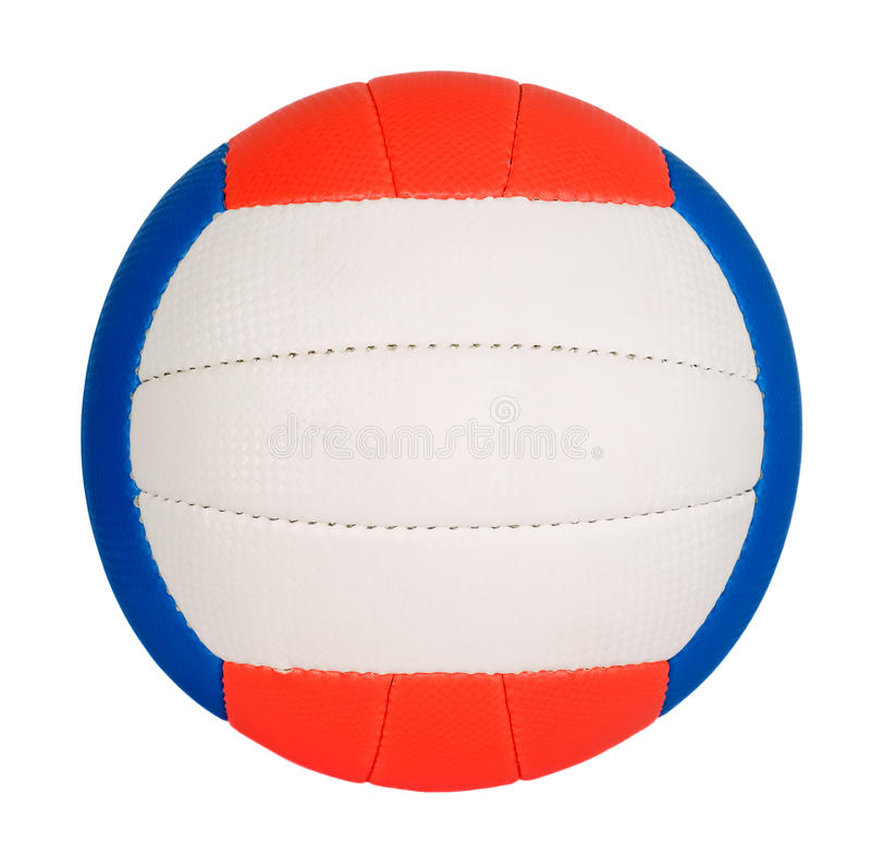 Ball with colorful stripes royalty free stock photos