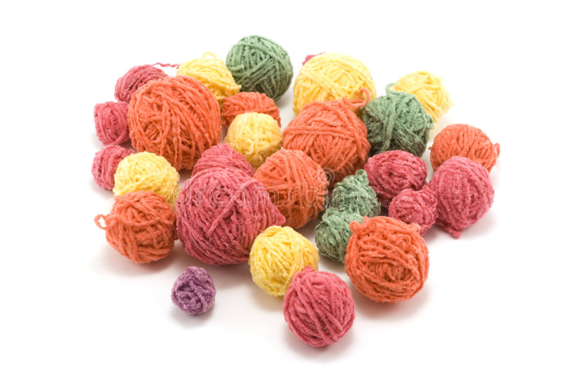 Download Ball Of The Colour Threads Royalty Free Stock Photography - Image: 7544057