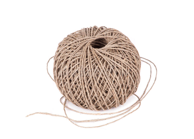 Ball cotton cord royalty free stock image