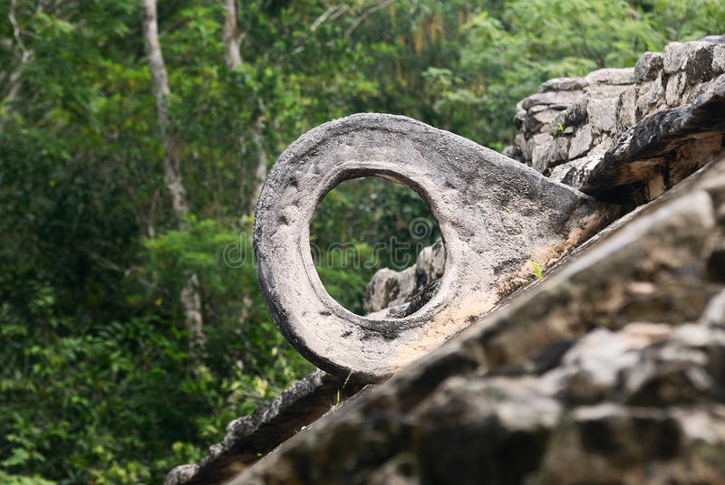 The ball-court at Coba royalty free stock photography