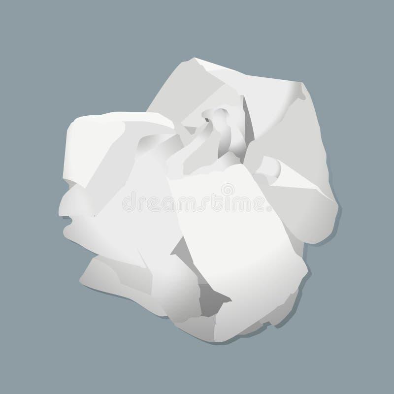 ball crumpled paper иллюстрация вектора