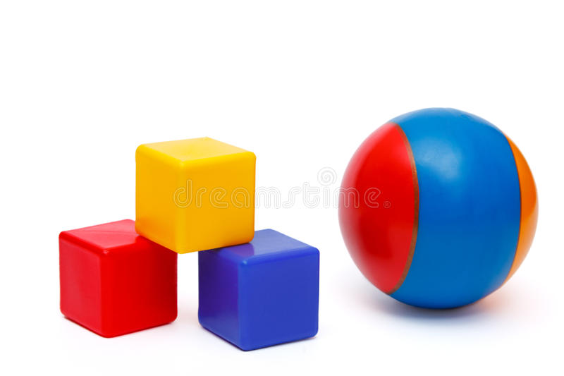 Download Ball and cubes stock photo. Image of child, brick, construction - 30152824