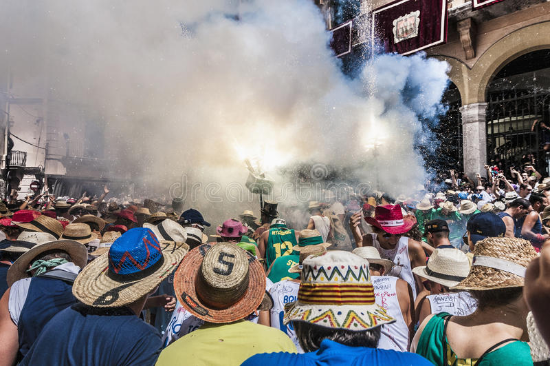 Ball de Diables at Festa Major in Sitges, Spain royalty free stock image