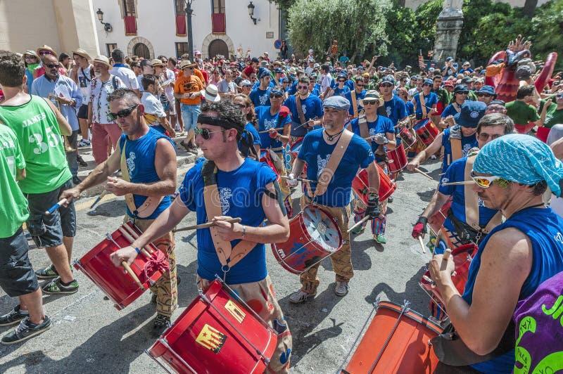 Ball de Diables at Festa Major in Sitges, Spain royalty free stock photos