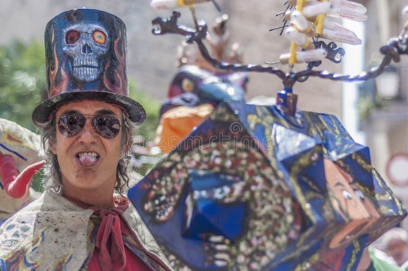 Ball de Diables at Festa Major in Sitges, Spain stock photos