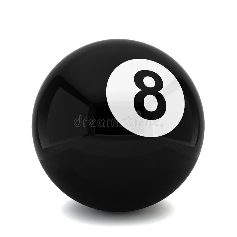 Ball des Billard acht lizenzfreie abbildung