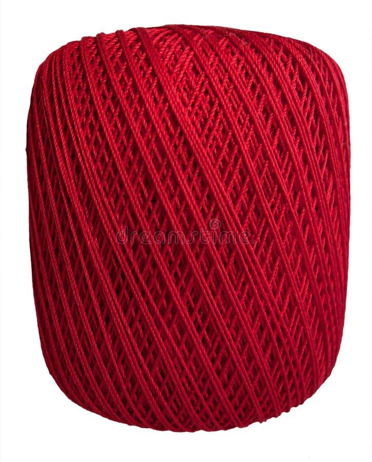 Ball des roten Threads lokalisiert lizenzfreies stockbild