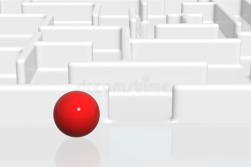 Download Ball Entering A Maze stock image. Image of business, model - 2318097
