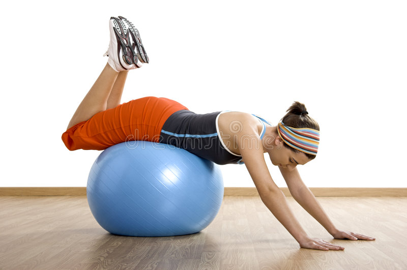 Download Ball exercises stock photo. Image of athletic, people - 4426120