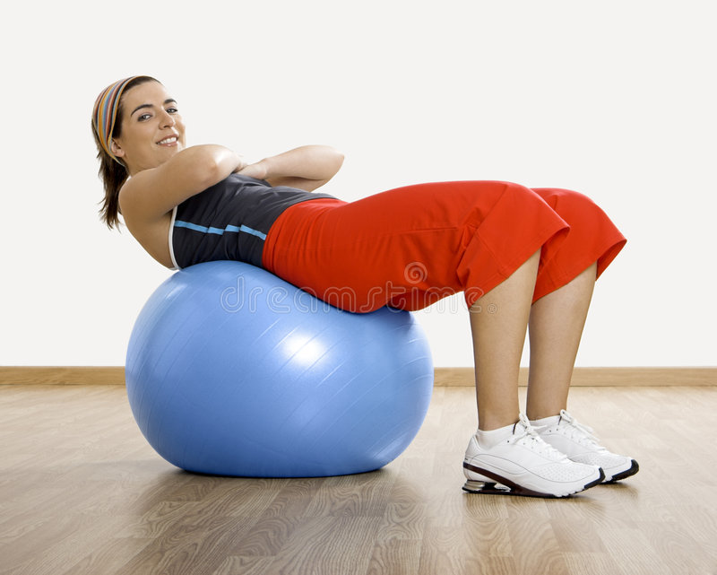 Ball exercises stock images