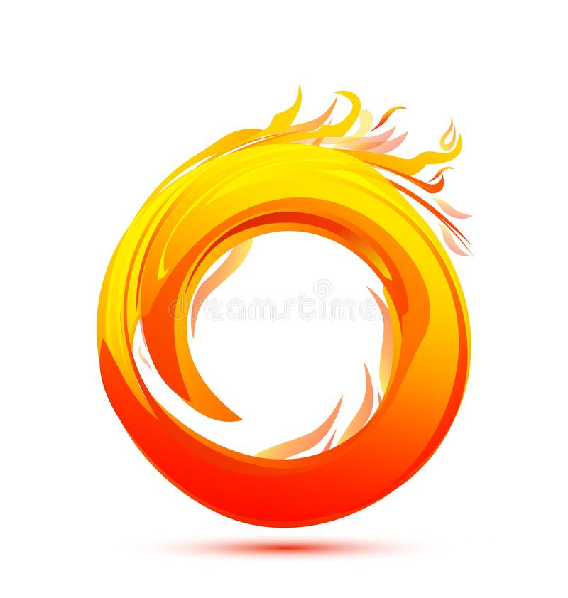 Ball of fire flame icon vector stock illustration