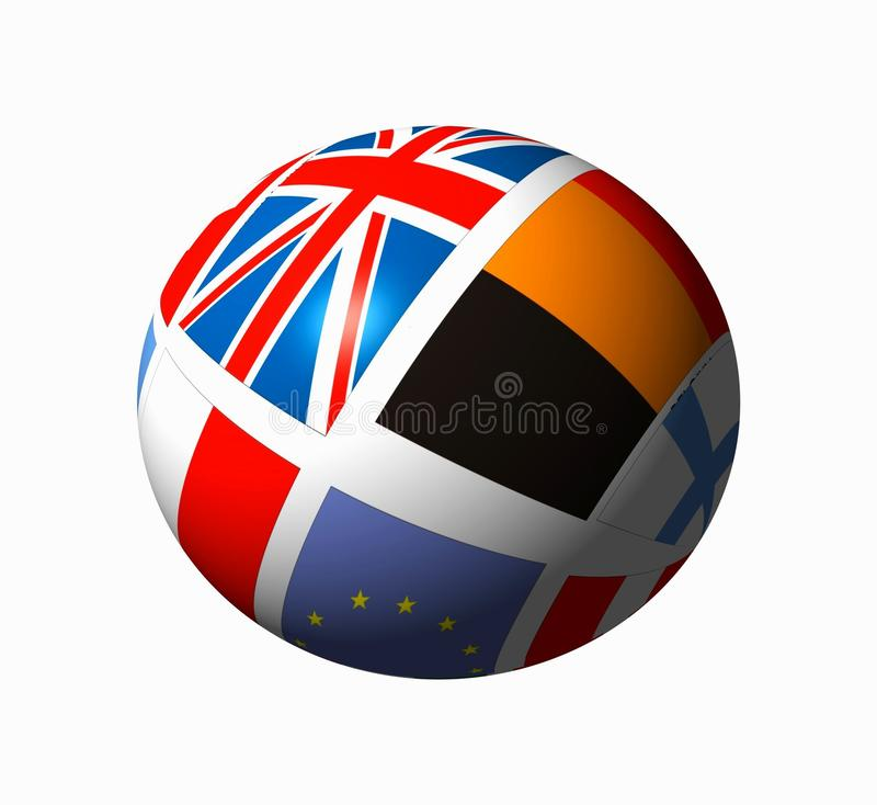 Ball with flags stock photography