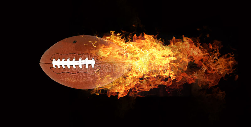 Ball in flames stock illustration
